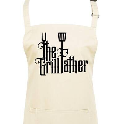 The GrillFather BBQ Apron! Available In 23 Apron Colours.