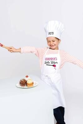 Personalised Children's Little Helper Apron & Chefs Hat Gift Set