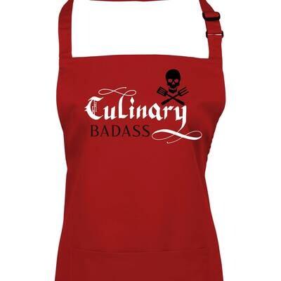 Mens Culinary Badass  Pirate Apron