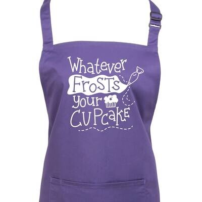 Whatever Frosts Your Cupcake Baking Apron. 23 Colours
