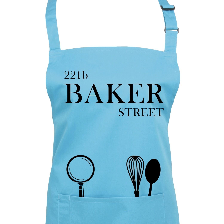 221b Baker Street Shelock Holmes Apron in 23 Colours