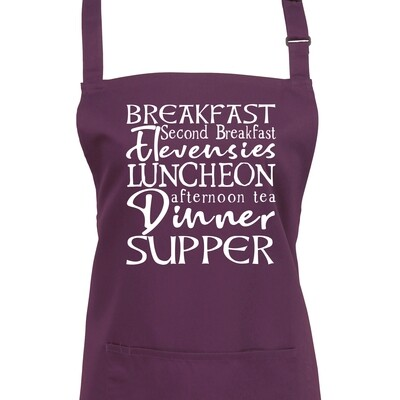 Second Breakfast Wizards Apron. Choice of Colours