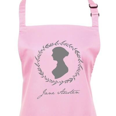 Jane Austen Silhouette & Signature Apron. 23 Colours