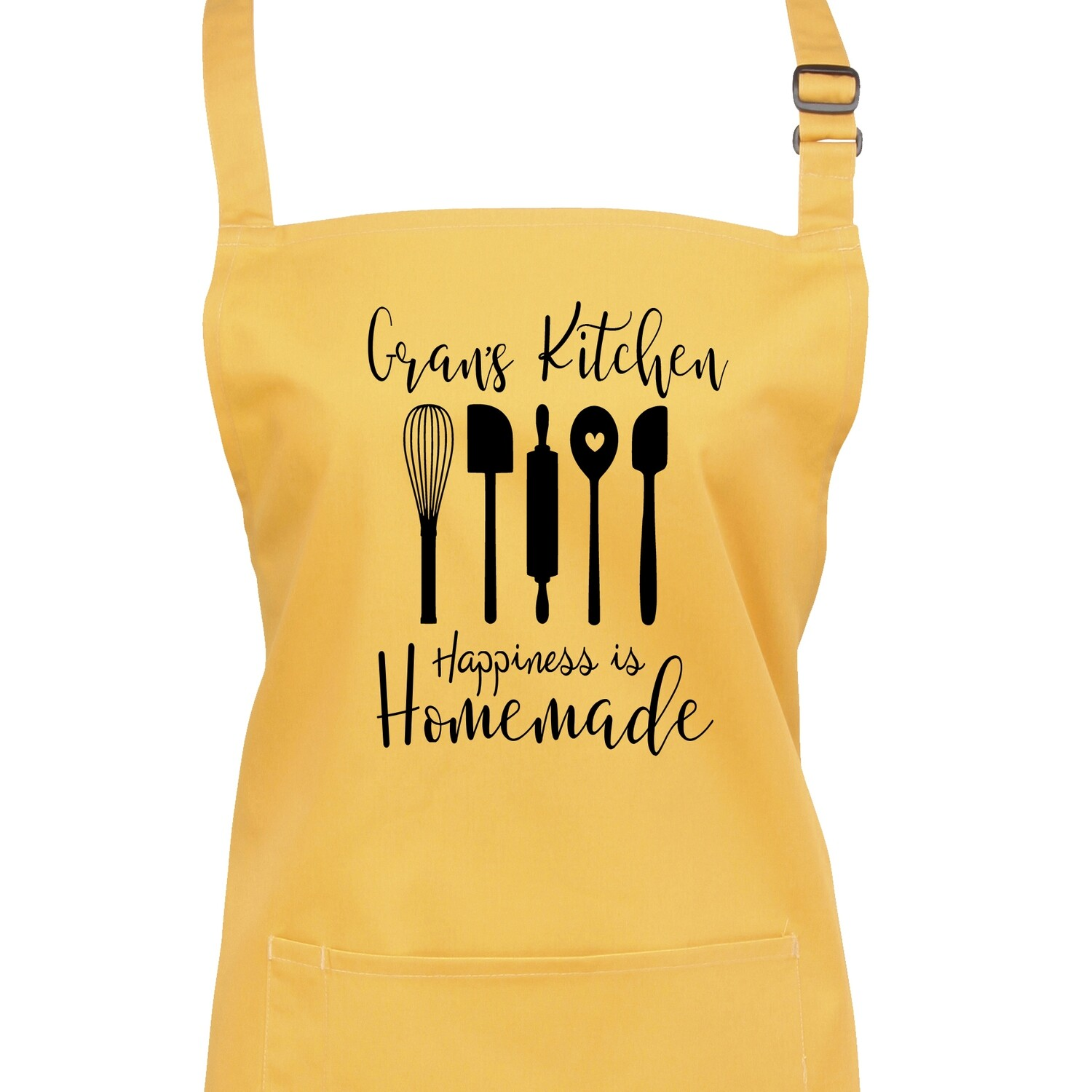 Personalised Happiness is Home Made Apron in 22 ColourS