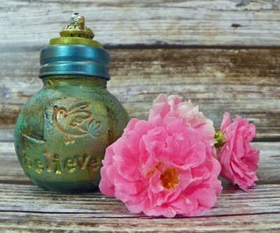 Apothecary Jar Mini- Believe Bird