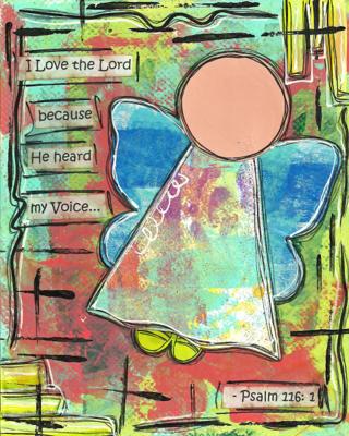 Psalm 116:1 Blank Note Card