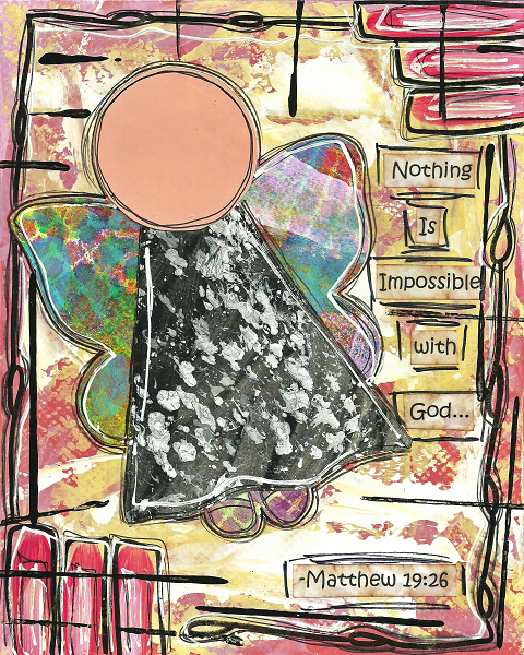Matthew 19:26 Blank Note Card