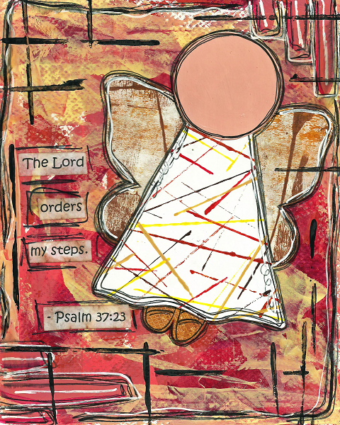 Psalm 37:23 Blank Note Card