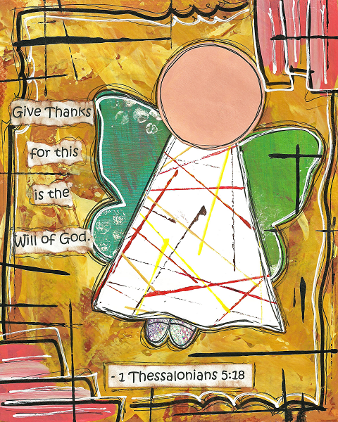 1 Thessalonians 5:18 Blank Note Card