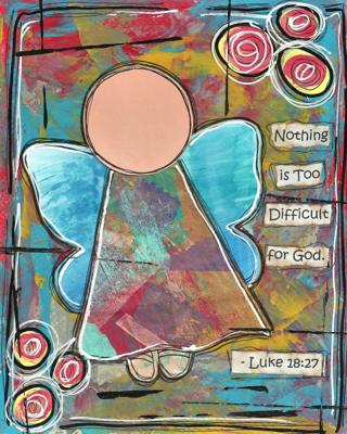 Luke 18:27 Blank Note Card