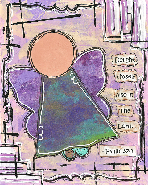 Psalm 37:4 Blank Note Card
