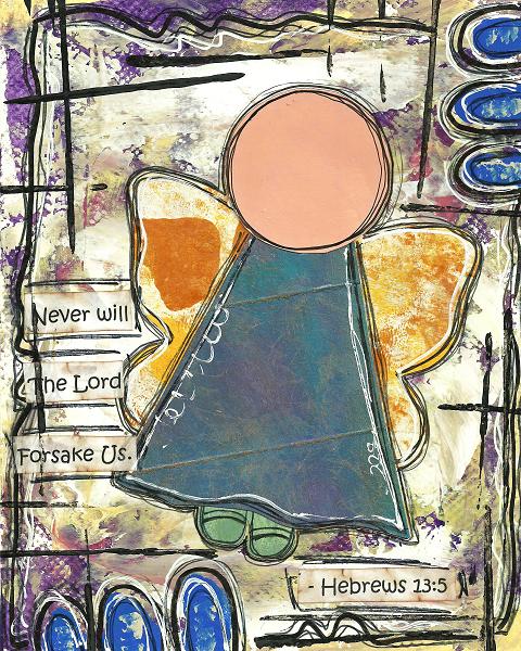 Hebrews 13:5 Blank Note Card