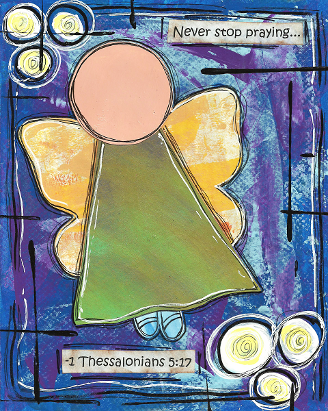 1 Thessalonians 5:17 Blank Note Card