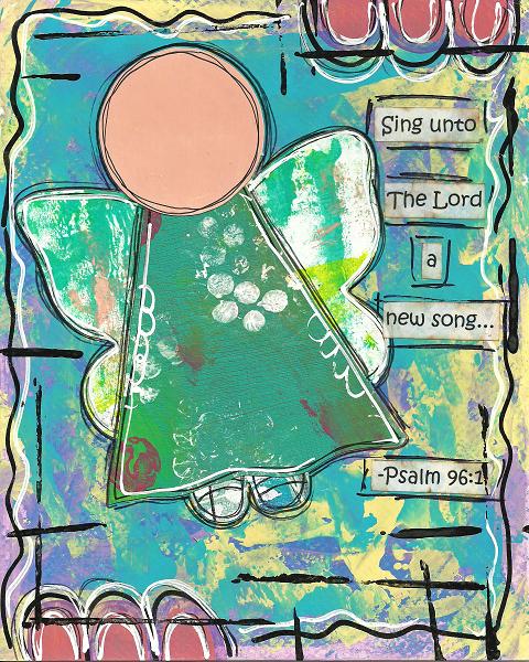 Psalm 96:1 Blank Note Card
