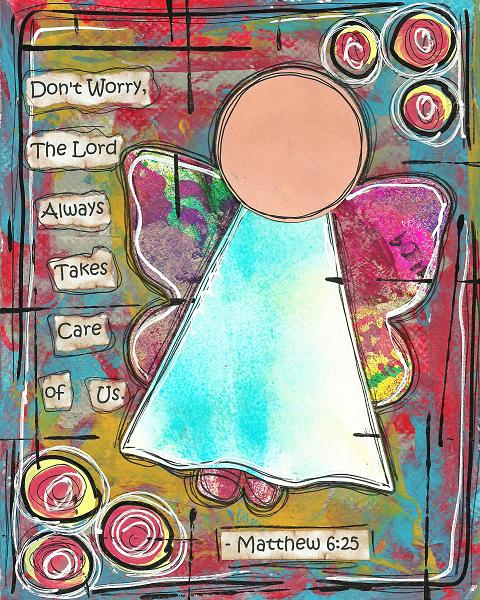 Matthew 6:25 Blank Note Card