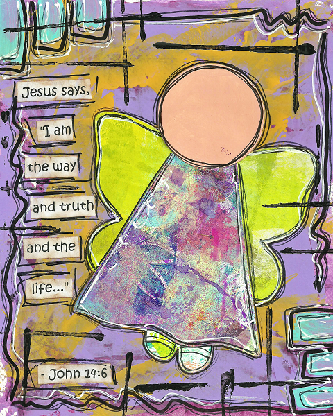 John 14:6 Blank Note Card