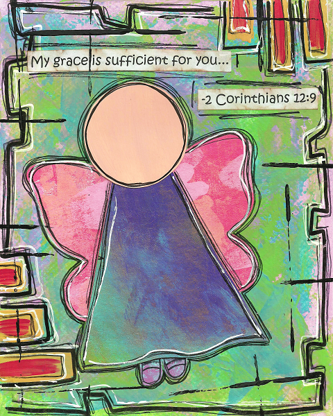 2 Corinthians 12:9 Blank Note Card