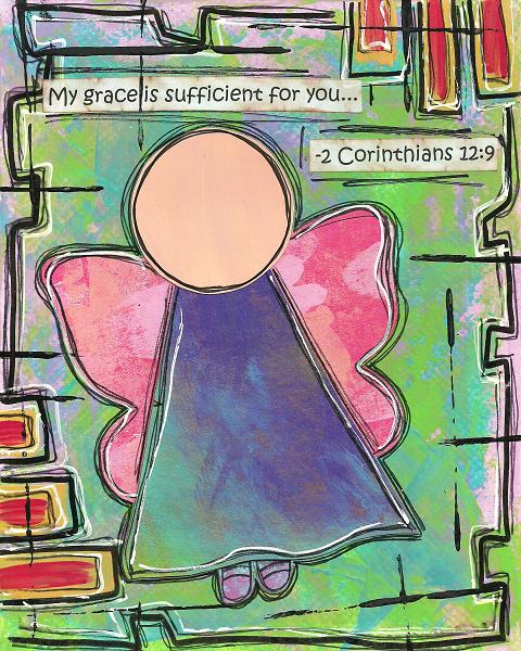 2 Corinthians 12:9 Blank Note Card