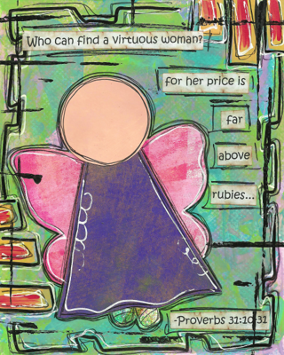 Proverbs 31:10-31 Blank Note Card