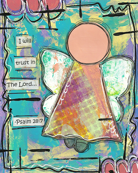 Psalm 28:7 Blank Note Card