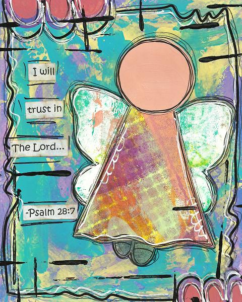 Psalm 28:7 Blank Note Card