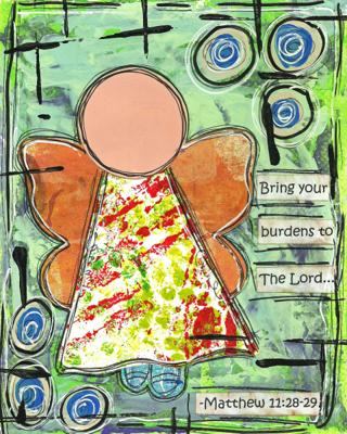 Matthew 11:28-29  Blank Note Card