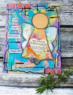 Mixed Media Prayer Angel