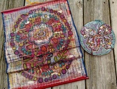 Boho Gypsy Banner & Round Butterfly