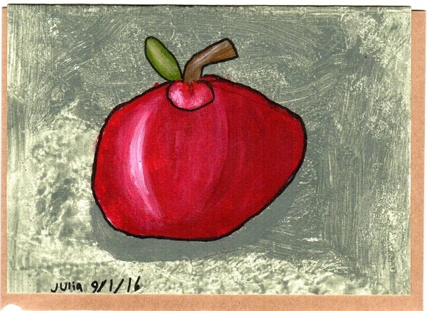 Apple Blank Note Card