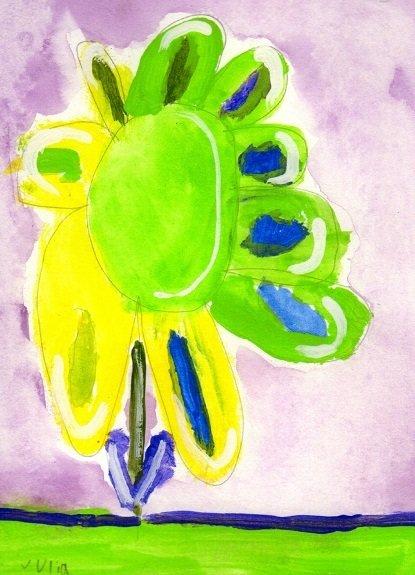 Flower Blank Note Card