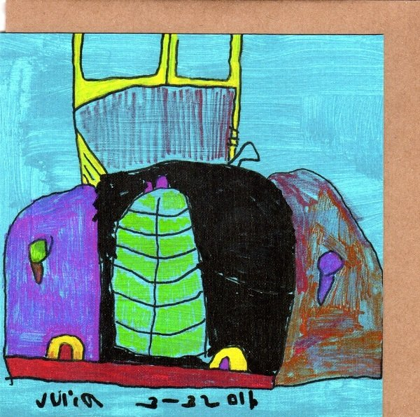 Old Car Blank Note Card