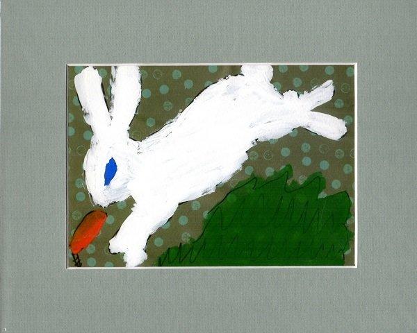 White Rabbit Print~Matted