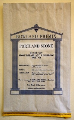 Portland Premix Repair Mortar: 25kg Cement or Lime based mix