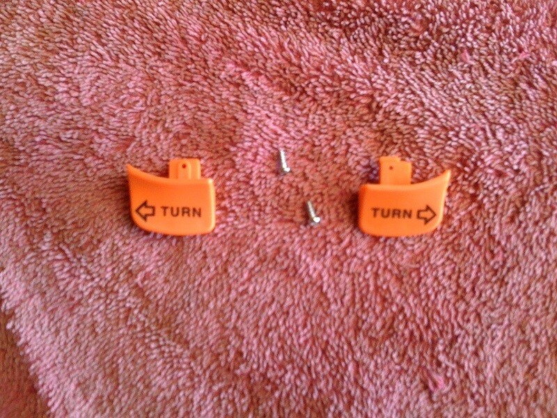 K75 to K1100, R850-R1100 Indicator Switch Tabs. (T7-WH2)