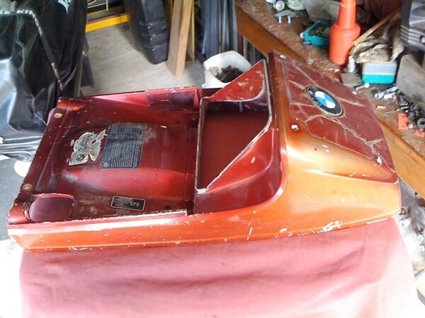 K100; Upper Rear Seat Cowl. (W-3)