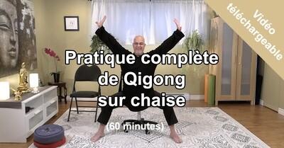 Pratique de Qigong sur chaise en haute définition (HD)