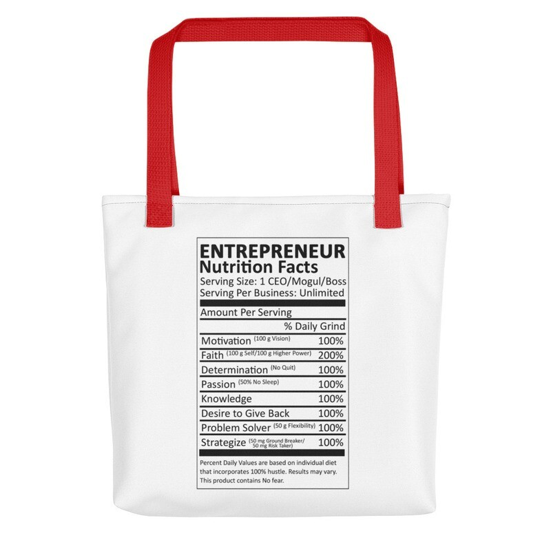 Entrepreneur Life Nutrition Facts Tote bag