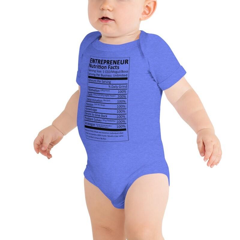 Entrepreneur Life Nutrition Facts Infant Bodysuit