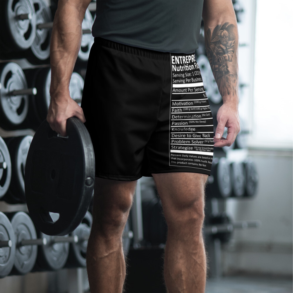 Entrepreneur Nutrition Facts Men's Athletic Long Shorts