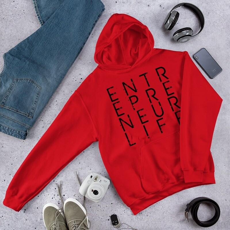 Men's/Unisex Entrepreneur Life Hoodie - Black Print