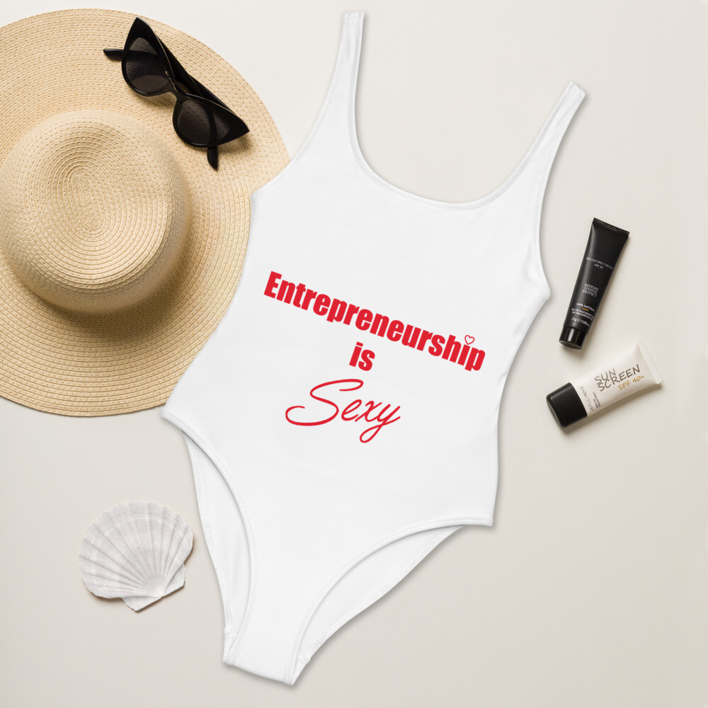 Entrepreneurship is Sexy One-Piece Swimsuit Front Design Only