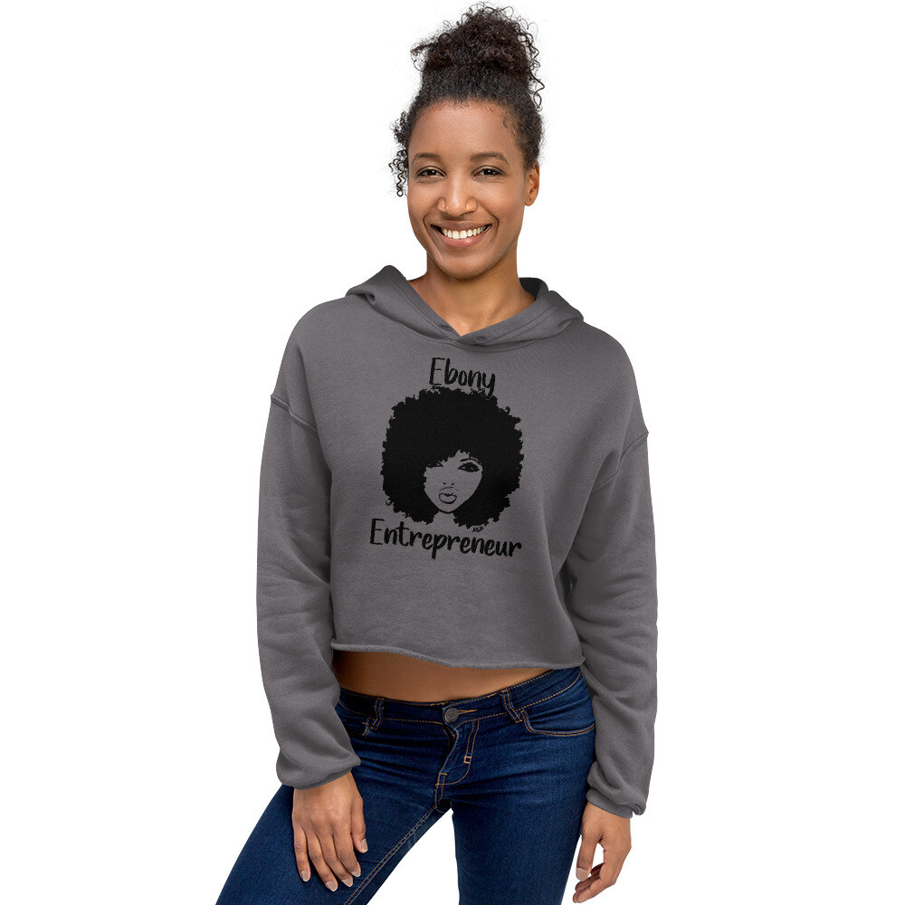 Ladies Ebony Entrepreneur Crop Hoodie