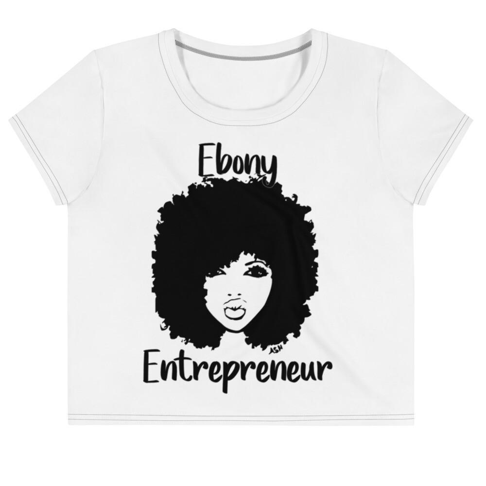 Ladies Ebony Entrepreneur Crop Tee