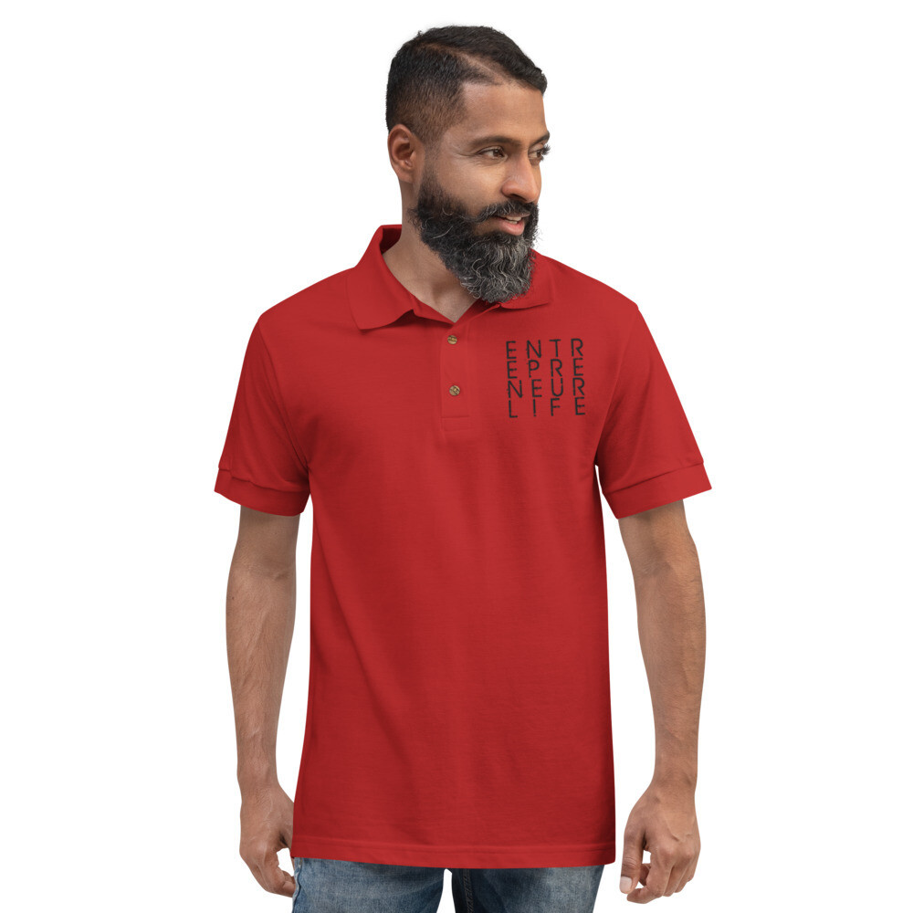 Entrepreneur Life Embroidered Men's/Unisex Polo Shirt