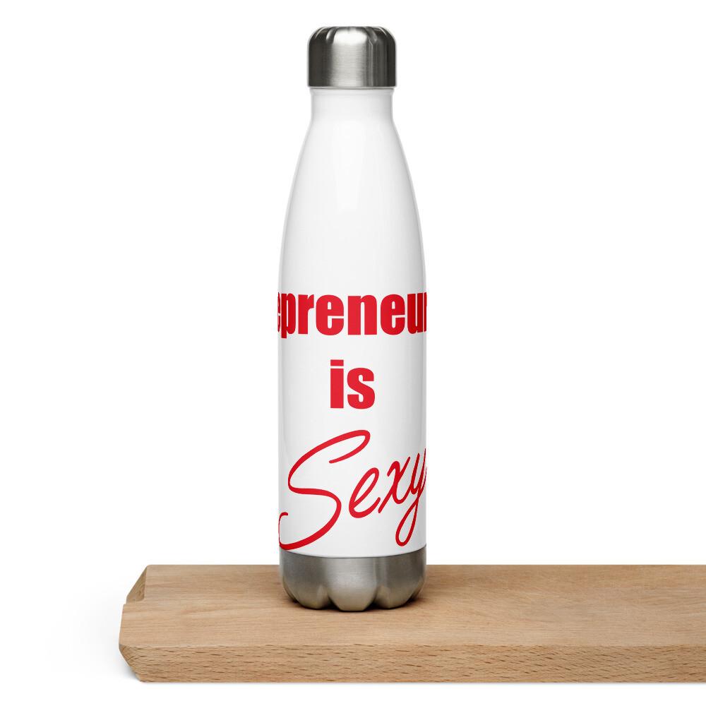 Entrepreneurship is Sexy Stainless Steel Water Bottle