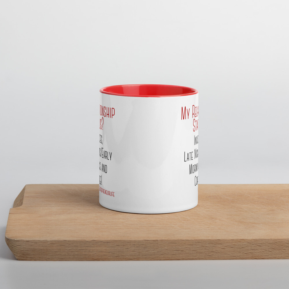 Relationship Status Mug with Color Inside