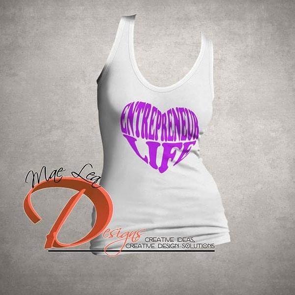 Entrepreneur Life™ Purple Heart Tank - White