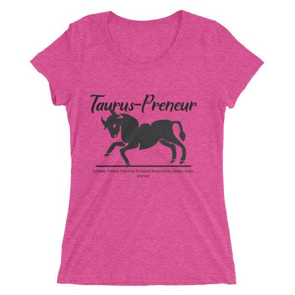 Taurus-Preneur Ladies' short sleeve t-shirt