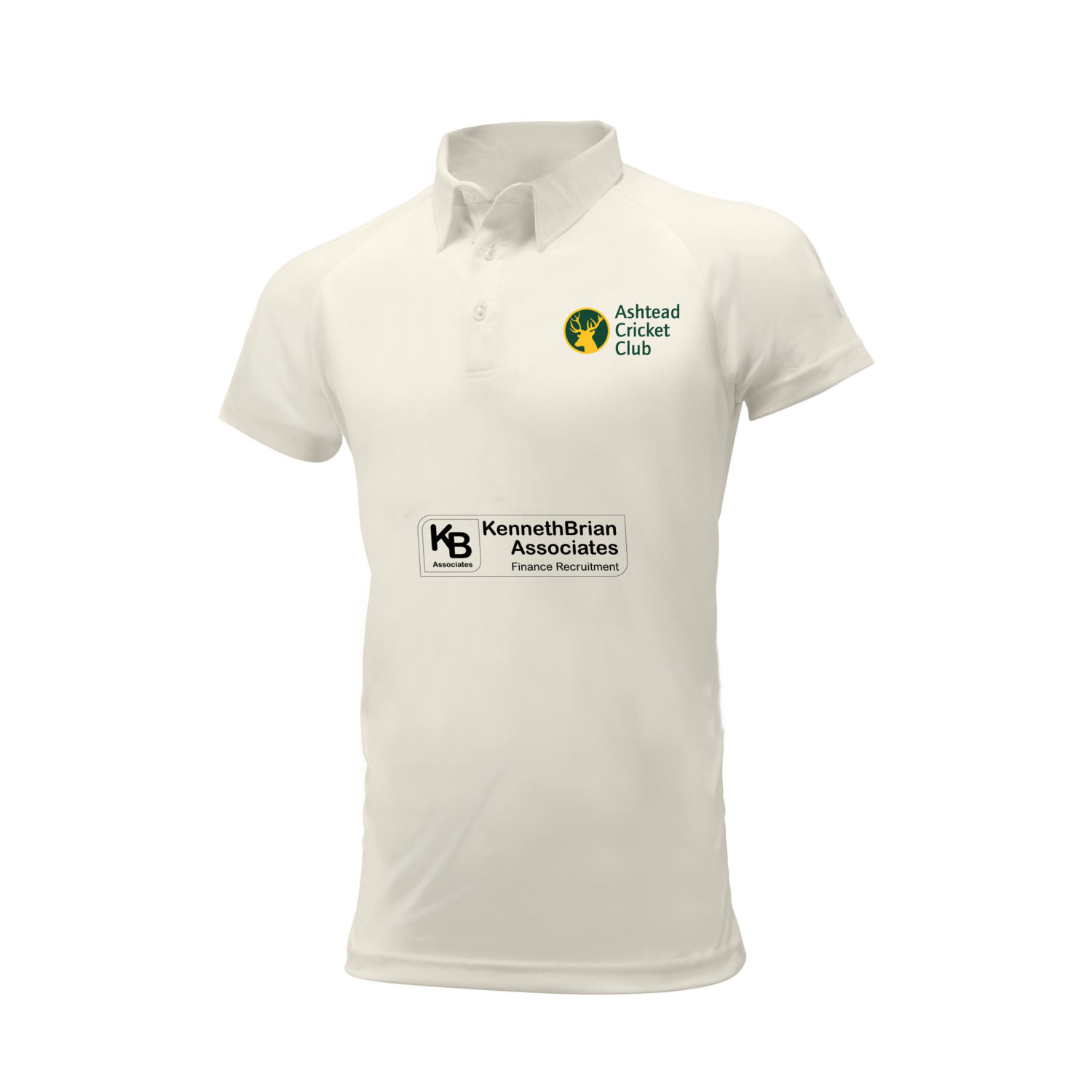 Ashtead Cricket Club embroidered short sleeve white shirt