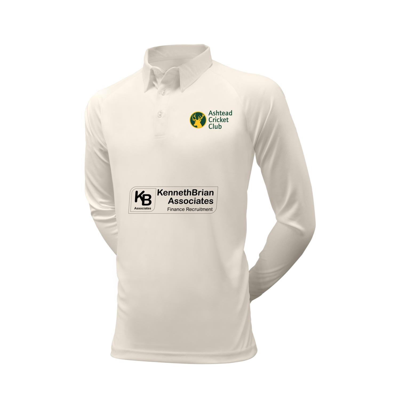 Ashtead Cricket Club White long sleeve shirt